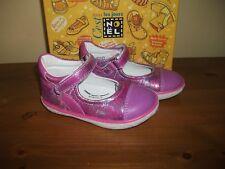 Girls NOEL 'Mini Agreg' Pink Metallic Leather Hook/Loop shoe UK 5 EUR 22 New!