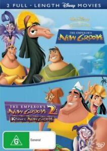 The Emperor's New Groove + The Emperor's New Groove 2 (DVD,2 Discs) Region 4 NEW