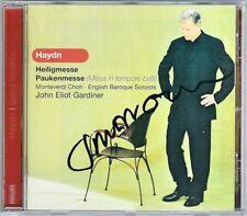 John Eliot GARDINER Signiert HAYDN Paukenmesse Heiligmesse CD Mingardo Lehtipuu