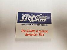 Memphis Storm 1986/87 AISA Indoor Soccer Pocket Schedule