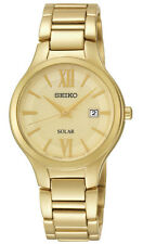 Seiko SUT212 SUT212P9 Ladies Solar Watch gold-tone WR50m NEW RRP $550.00