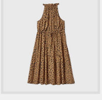Plus Size Ava & Viv Women's Brown Leopard Print Sleeveless Dress-NWT-Size 4X