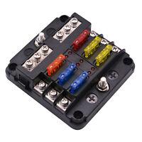 6 Wege LED Sicherungsblock Blade Sicherungskasten 6 Stromkreis Sicherungshalter