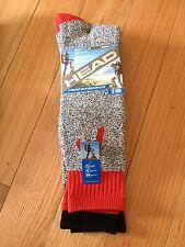 Head Full-Cushion Qwick-Dry Performance Mid-Calf Hiking Athletic Socks 2 Pairs