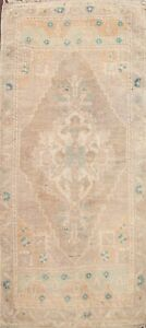 Vintage Muted Distressed Hand-knotted Anatolian Turkish Oriental Area Rug 2x4 ft