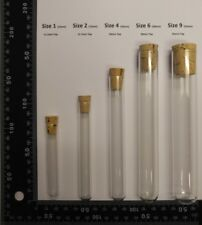 100 count Glass test tubes with cork stoppers/caps