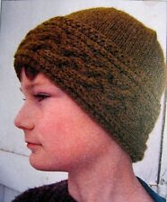 AWESOME CABLED MOUNTAIN HAT & EAR WARMER to KNIT in WORSTED WEIGHT YARN