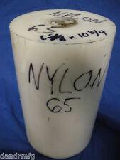 "NYLON 6-5/8 x 10-3/4"" PLASTIC ROUND BAR ROD FOR CNC LATHE MACHINE SHOP"