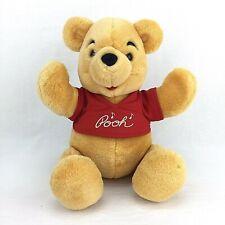 "Winnie the Pooh Plush Toy Bear 14"" Jointed Walt Disney World Stuffed Animal"