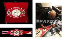 FLOYD MAYWEATHER JR HAND SIGNED AUTOGRAPHED IBF BOXING BELT WITH PIC PROOF COA