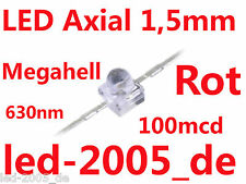 30 x LED 1.5mm Rot,100mcd,630nm,LED Axial 1.5mm Red,Rouges,Rossi,Rode,Rojos,