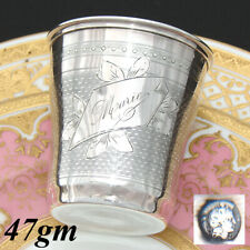 Antique French .800 (nearly sterling) Silver Wine or Mint Julep Cup, Tumbler