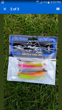 Soft Plastic Lures Grubs Baits Soft Bait Fishing Tackle Rattle Tail Jig 8pc/set