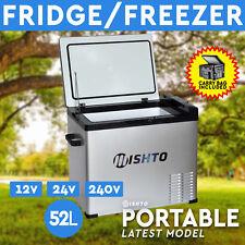 52L Portable Fridge Freezer 12V/24V/240V  Camping Car Boating Caravan Bar Fridge