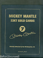 MICKEY MANTLE 23 KT GOLD CARD SET DANBURY MINT MATCHING SERIAL #'S BOOK #1656