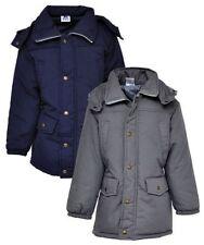 Cappotti e giacche con cappuccio grigia in inverno per bambine dai 2 ai 16 anni
