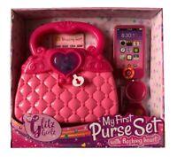 My First Purse Set Glitz Girls Play Pretend Flashing Lights Heart Toy Playset
