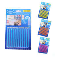 SANI STICKS Pack Odor Drains Sticks Drain Clear Cleaner Deodorizer Cleaning Tool