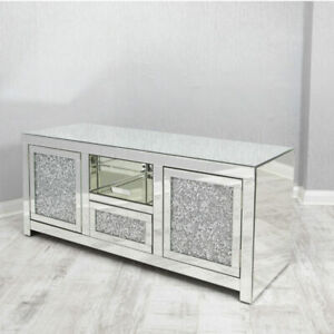 Modern Home Decor, Crushed Diamond Glass TV / Media unit