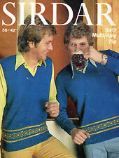 ~Vintage 1970's Sirdar Knitting Pattern For Man's Fair Isle Sweater & Tank Top ~