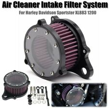 Black Air Cleaner Intake Filter Kits For Harley Sportster XL883 1200 2004 2015