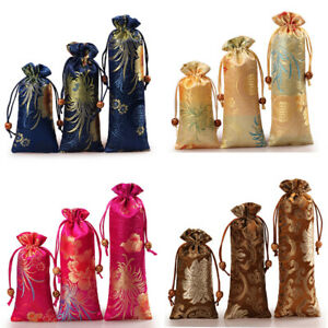 Satin Drawstring Gift Bags Jewelry Pouch Party Wedding Favor Present Bag Small