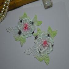 5pcs/lot 3D color flower Floral Embroidered Lace Organza Applique Patches