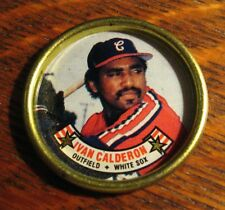 Ivan Calderon Baseball Button Coin - Vintage 1988 Topps Chicago White Sox MLB
