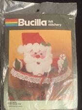 "Bucilla 82333 Felt Stitchery ""Smilin Santa Basket Decoration� New"