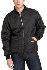 Dickies Mens Water Resistant Diamond Quilted Nylon Jacket, Black, Large