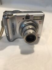 Canon PowerShot A560 7.1MP Digital Camera - Silver Tested & Working