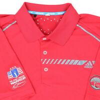 """Adidas Men XL 48"""" Las Colinas The Bush Center Warrior Open Golf Polo Shirt Red"""