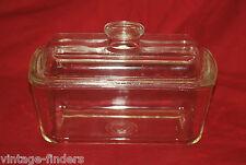 Old Vintage Westinghouse W Refrigerator Glass Dish w Lid Kitchen Tool B-8 USA