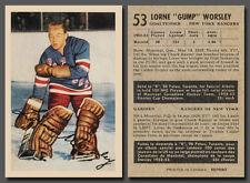 Lorne Gump Worsley Rookie #53, Reprint, 1953-54 Parkhurst Mint