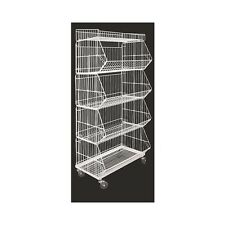 Display Baskets For Fruit & Veg, Specials, Chemists 5 Level Collapsable White