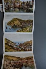 R&L Postcard: J Salmon Letter-Card Fold Out Artists Scenes, Polperro AR Quinton