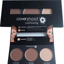 Covershoot Cream Foundation Contouring Palette Contour Bronzer Highlighter Kit