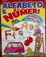 Alfabeto e Numeri Impara colora e gioca Libro Nuovo MkLibri N