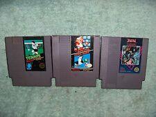 Lot of (3) Vintage 1985 USED NES Nintendo Games Super Mario Bros-Tennis-Trojan