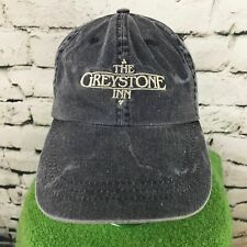 The Greystone Inn Mens One Sz Hat Gray Khaki Adjustable Basic Baseball Cap Flaw