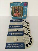 View-Master 80-A-B-C, Cherokee Indians, North Carolina, S3 Pkg, 1957, 3 Reel Set