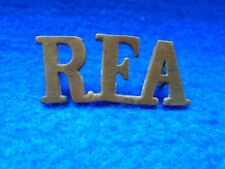 1 X WWI R.F.A, ROYAL FIELD ARTILLERY BRASS SHOULDER TITLE