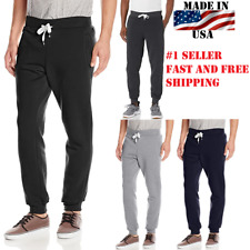 Men's Casual Joggers Pants Sweatpants Combat Active Sports Trousers MADE IN USA
