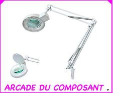 LAMPE LOUPE DE TABLE 5 DIOPTRIES AVEC TUBE NEON 22W (ref 65-0779) Poids 3,300Kg