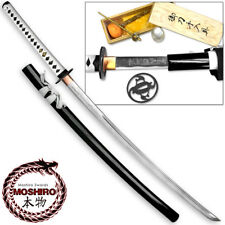 MOSHIRO Shadow Warrior Handmade Katana Sword - White Edition Battle Ready