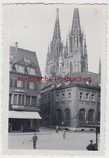 (F8090) Orig. Foto Regensburg, Partie mit Dom 1935