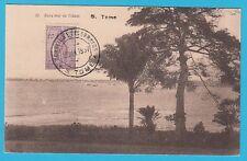 D.  Sao Tome  Am Meer  -  Schiffe    Postkarte  1937