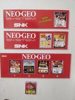(155 Fridge MAGNETS) 15  NEO GEO Arcade marquees with 140 game mini marquees