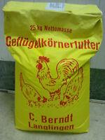 25kg Hühnerfutter GVO-frei Geflügelkörnerfutter  Nutzgeflügel  €,-69/kg