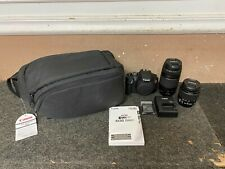 Canon EOS Rebel T7 1500D DSLR Black Digital Camera 18-55 & 75-300mm Lenses